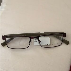 Brown Armani Exchange glasses for vision!